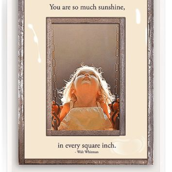 You Are So Much Sunshine In Every Copper & Glass Photo Frame