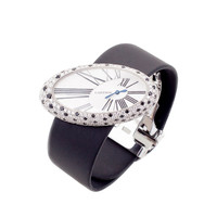 Cartier Lady's White Gold Diamond Onyx Wristwatch