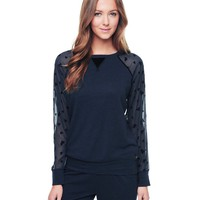 Flocked Hearts Pullover by Juicy Couture