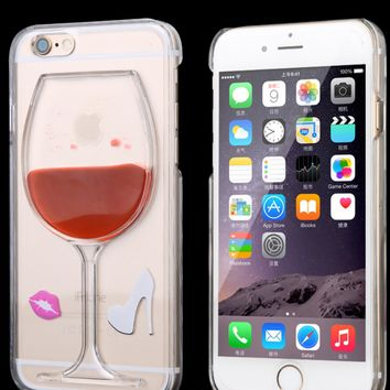 Luxury Wine Glass Transparent Phone Case