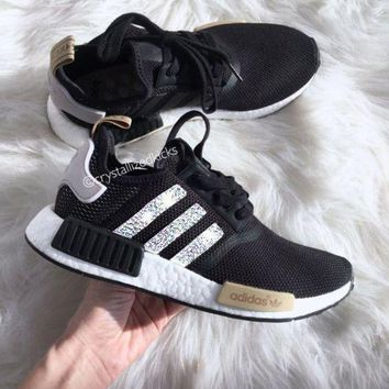 PEAPGE2 Beauty Ticks Adidas Nmd Nmd_r1 W Glittering Breathable Running Sports Shoes Sneakers