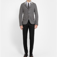 Alexander McQueen - Slim-Fit Check Wool-Twill Trousers | MR PORTER