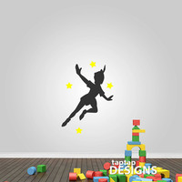 Peter Pan Flying Wall Decal Sticker SKU0150