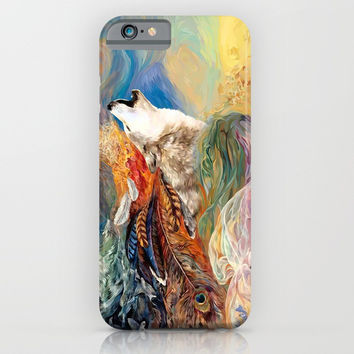 The spirit Wolf Abstract iPhone 4 4s 5 5c 6 7, pillow case, mugs and tshirt iPhone & iPod Case by Three Second