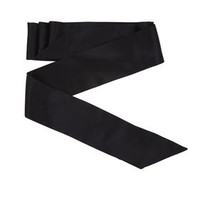 Black BCBG Silk Sash Waist Belt