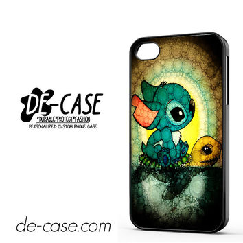Stitch A Lone On Turtle For Iphone 4 Iphone 4S Case Phone Case Gift Present