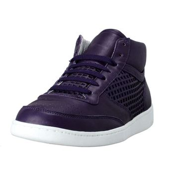 Dolce & Gabbana Women's Purple Leather Fashion Sneakers Shoes