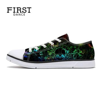 FIRST DANCE Fashion Shallow Unisex 3D Women's Vulcanize Shoes Classic Canvas Shoes Women Custom Printed Ladies Casual Shoes 2017