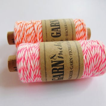 1 spool BAKER'S TWINE *red *pink *orange *white *neon