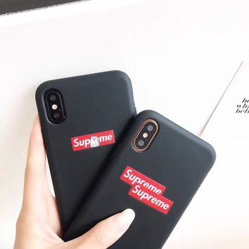 Supreme Luxury matte pattern shockproof protection Case Cover for iphone 8 TPU NEW