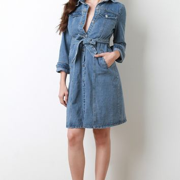 Denim Trench Dress