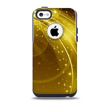 The Abstract Gold Fantasy Swoop Skin for the iPhone 5c OtterBox Commuter Case