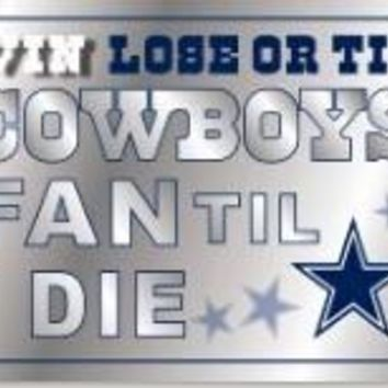 3x5 win lose or tie cowboys fan Dallas Cowboys flag with metal Grommets