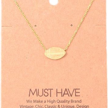 Must Have-Football Pendant NeckLace, Gold
