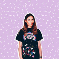 90s Vintage Hand-Painted T-Shirt with hipster cat head - faded black - small medium size