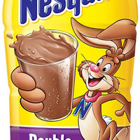 Nestle Nesquik Double Chocolate Flavored Milk 14 oz Bottles-Case of 12