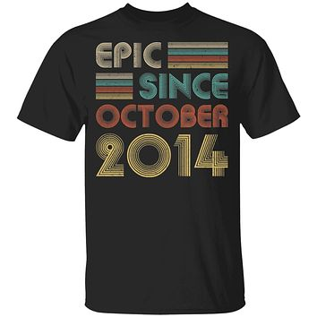 Epic Since October 2014 Vintage 6th Birthday Gifts Youth