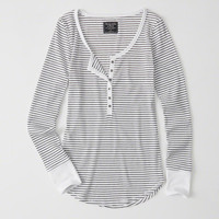 Womens Long-Sleeve Henley | Womens Sale | Abercrombie.co.uk