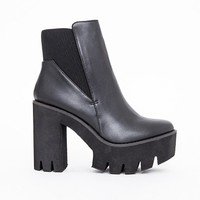 Missguided - Alexia Cleated Sole Chelsea Boots Black