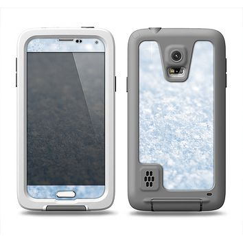 The Sparkly Snow Texture Samsung Galaxy S5 LifeProof Fre Case Skin Set