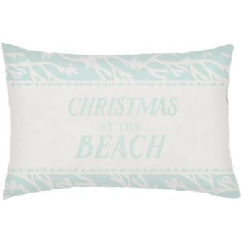 Sea-sons Greetings Holiday Pillow I