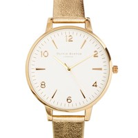 Olivia Burton Metallic Gold White Faced Watch - Cream