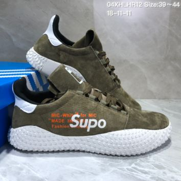 AUGUAU A494 Adidas Tubalar Yeezy MIC White Supo Suede Running Shoes Green