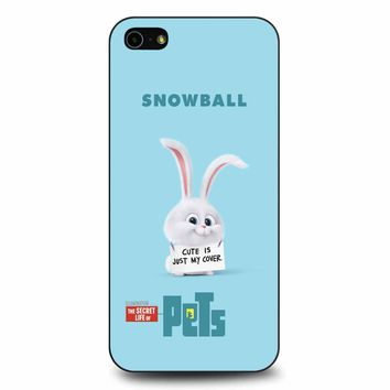 The Secret Life Of Pets Snowball Poster iPhone 5/5s/SE Case