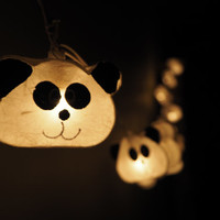 SALE Cute panda Fairy String Light - 20 Panda Lights Fairy lights Party Decor Wedding Garden Spa and Holiday Lighting