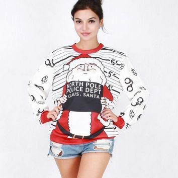 The New Womens Christmas Santa Claus Pullovers Sweaters
