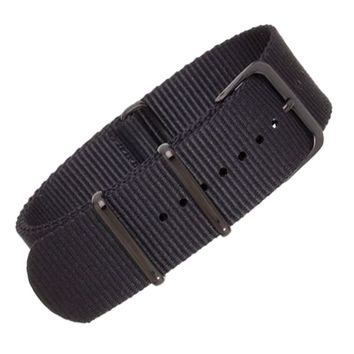 22mm Black Nylon NATO - Black Buckle