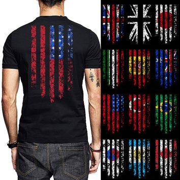 USA Australia Japan Korea Brazil Canada Turkey Argentina Spain Italy Country Flag T-Shirts