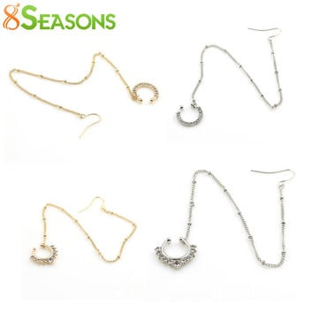 8SEASONS New Fashion Women Fake Piercing Nose Rings&Studs Ear Chain Girls Body Jewelry Summer Style 2 Colors, 1 Piece