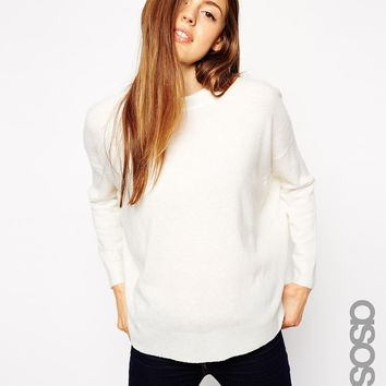 ASOS TALL Cutabout Jumper In Wool