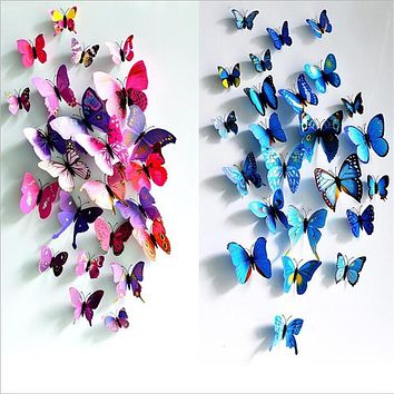 3D PVC Butterfly Wall Stickers Home Decor Decals For Kids Room Wall Stickers