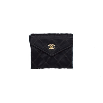Chanel Black Flap Coin Case Petite Purse.  Darling!