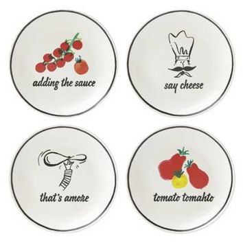 kate spade new york All in Good Taste™ Any Way You Slice It Pizza Plates (Set of 4)