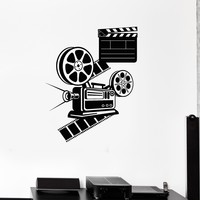 Vinyl Wall Decal Cinema Room Movie Lover Film Stickers Mural Unique Gift (543ig)
