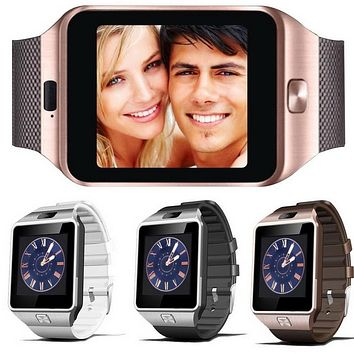 suqy Devices DZ09 bluetooth smart watch for android phone support SMI/TF women sport wristwatch for samsung xiaomi huawei iphone