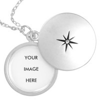 Personalized Monogram Silver Plated Round Locket