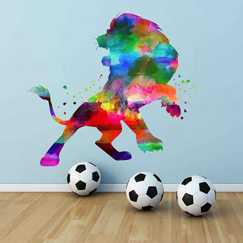 kcik2149 Full Color Wall decal Watercolor Character Disney The Lion King Mufasa children's room Sticker Disney