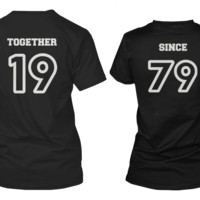 [Custom] Together Since Matching Couple Shirts (Set)