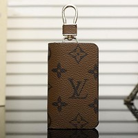 Louis Vuitton LV Fashion Leather Zipper Car Key Wallet Case Cover
