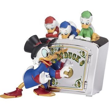 """Precious Moments """"Family Is Priceless"""", Disney DuckTales Bank, Resin"""
