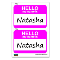 Natasha Hello My Name Is - Sheet of 2 Stickers