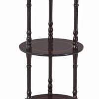 Frenchi 3 Tier shelves in Cherry Finish