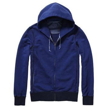 Navy Zip Hoodie by Scotch & Soda