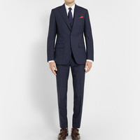 Thom Sweeney - Navy Weighhouse Wool Three-Piece Suit | MR PORTER