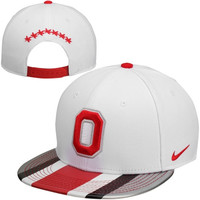 Nike Ohio State Buckeyes 2013 Rivalry True Snapback Adjustable Hat - White - http://www.shareasale.com/m-pr.cfm?merchantID=7124&userID=1042934&productID=540350385 / Ohio State Buckeyes