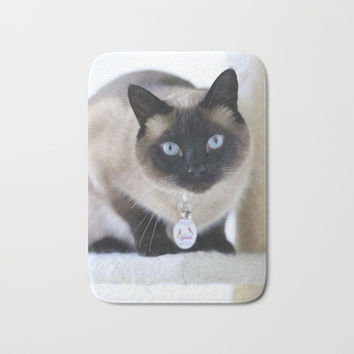 Innocent Expression Bath Mat by Theresa Campbell D'August Art